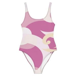 Eatsalt wave design sea or pool one-piece swimsuit - front