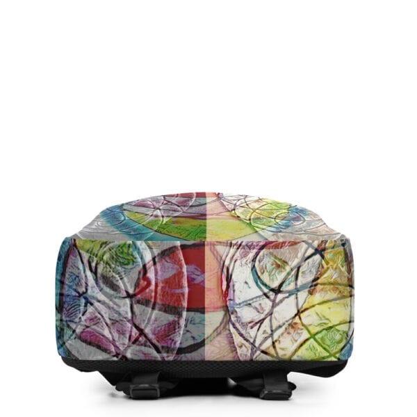 Bottom of colourful eatsalt backpack