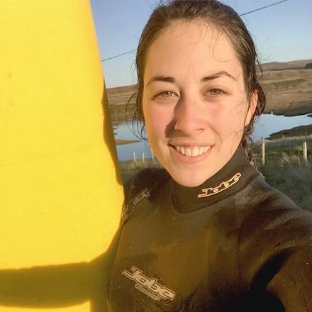 Rhiannon Evans, Thurso surfer for Eatsalt